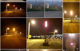 بهره برداری از چراغهای راهنمایی و روشناییهای تزئینی در شهر رازمیان