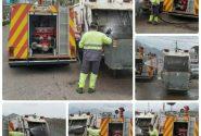 اقدام شایسته پرسنل زحمتکش شهرداری در خصوص شستشوو ضدعفونی سطلهای زباله شهر رازمیان