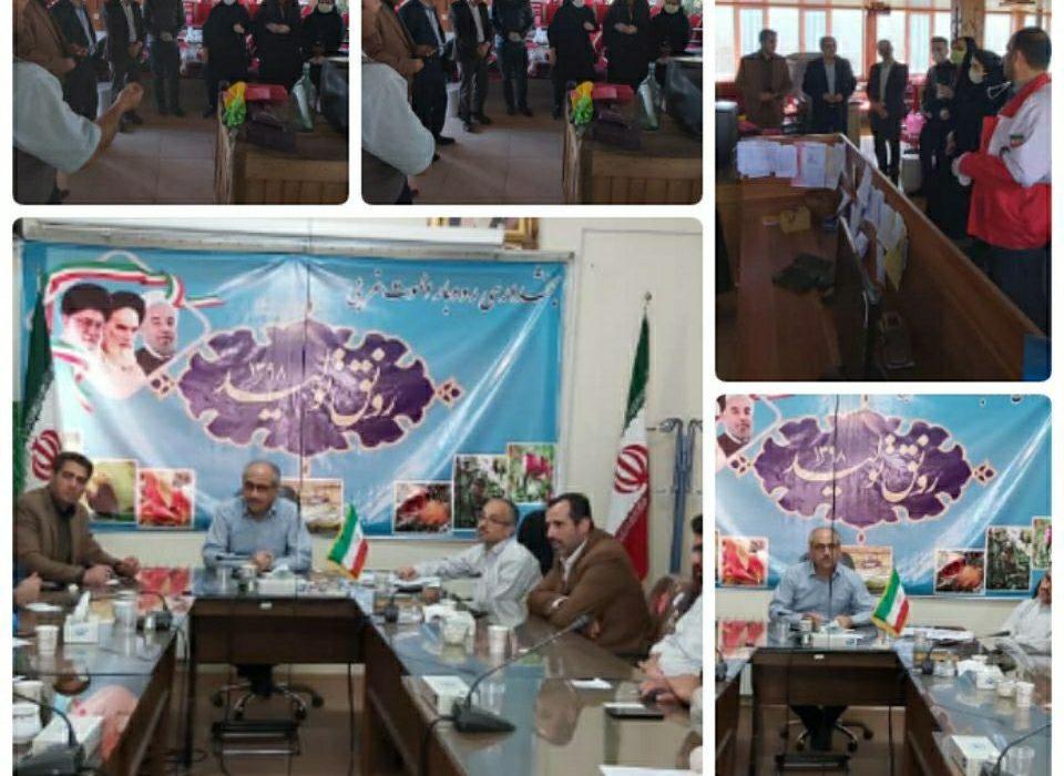 دومین جلسه ستاد جهادی سلامت وبازدید وسرکشی از اماکن عمومی وتوقف فعالیت رستورانها شهر رازمیان